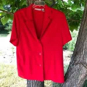 Sag Harbor Short Sleeve Washable Blazer-Red